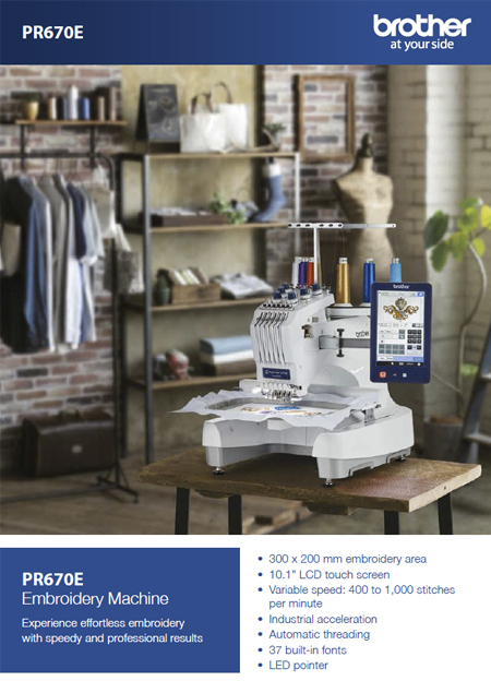 brochure brother PR670E